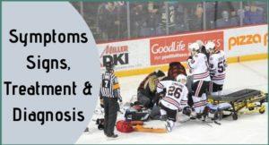 Ice hockey injury, Caused Symptoms & Treatments