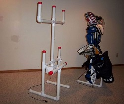 PVC hockey drying rack